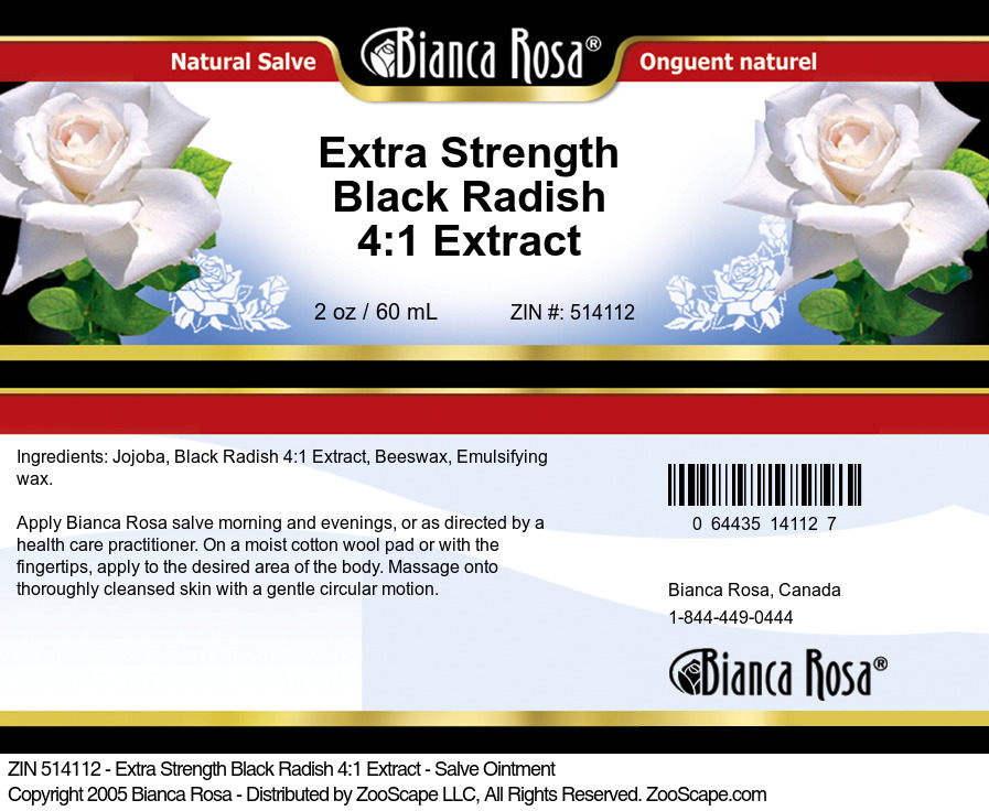 Extra Strength Black Radish 4:1 Extract - Salve Ointment