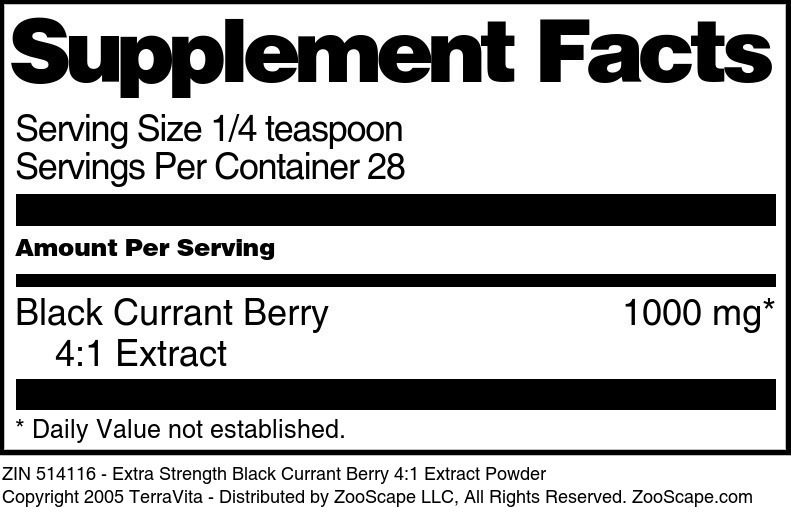 Black Currant Leaf 4:1 Extract