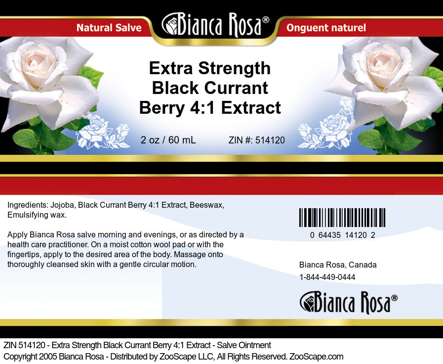Extra Strength Black Currant Berry 4:1 Extract - Salve Ointment