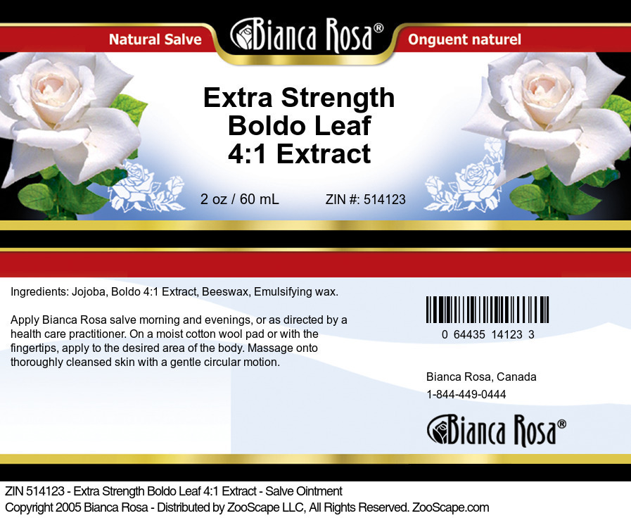 Extra Strength Boldo Leaf 4:1 Extract - Salve Ointment