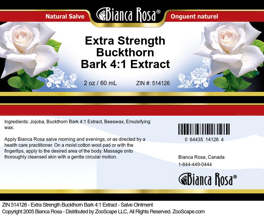 Extra Strength Buckthorn Bark 4:1 Extract - Salve Ointment