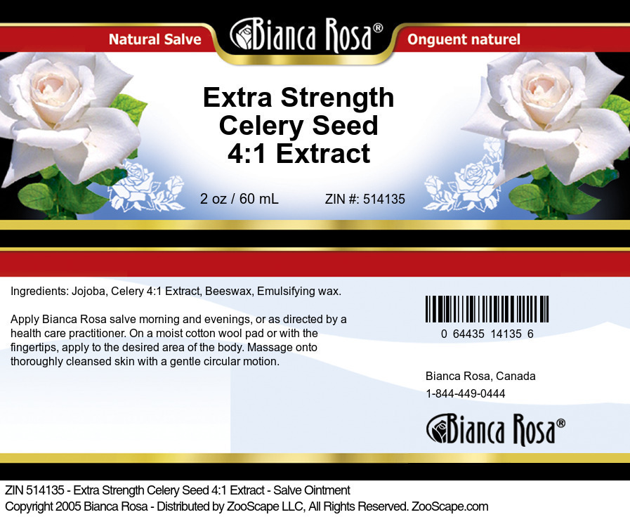 Extra Strength Celery Seed 4:1 Extract - Salve Ointment