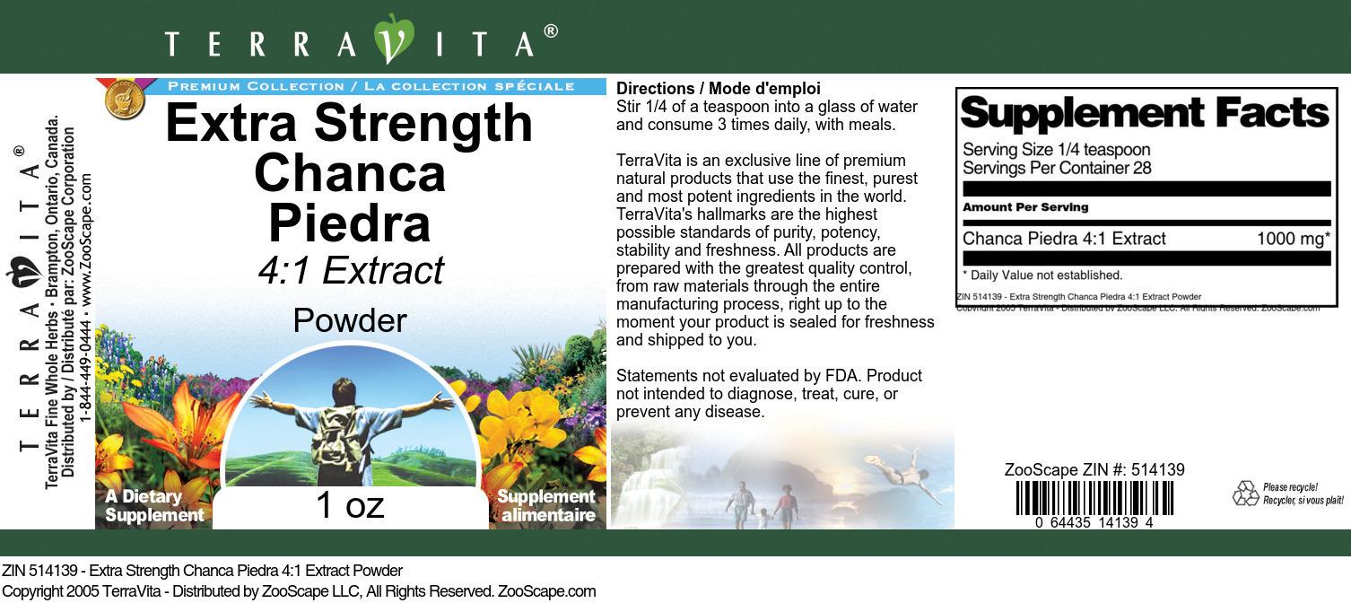 Extra Strength Chanca Piedra 4:1 Extract Powder