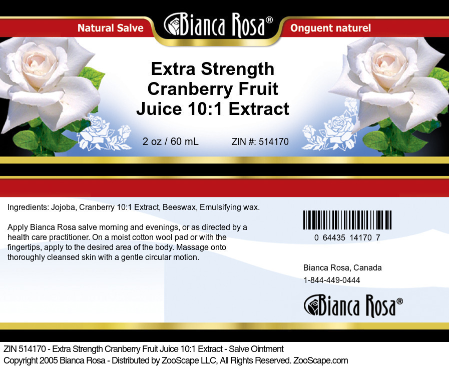Extra Strength Cranberry Fruit Juice 10:1 Extract - Salve Ointment