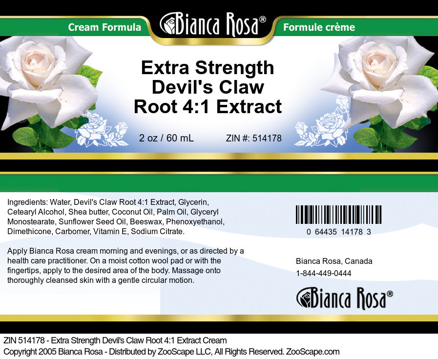 Extra Strength Devil's Claw Root 4:1 Extract Cream