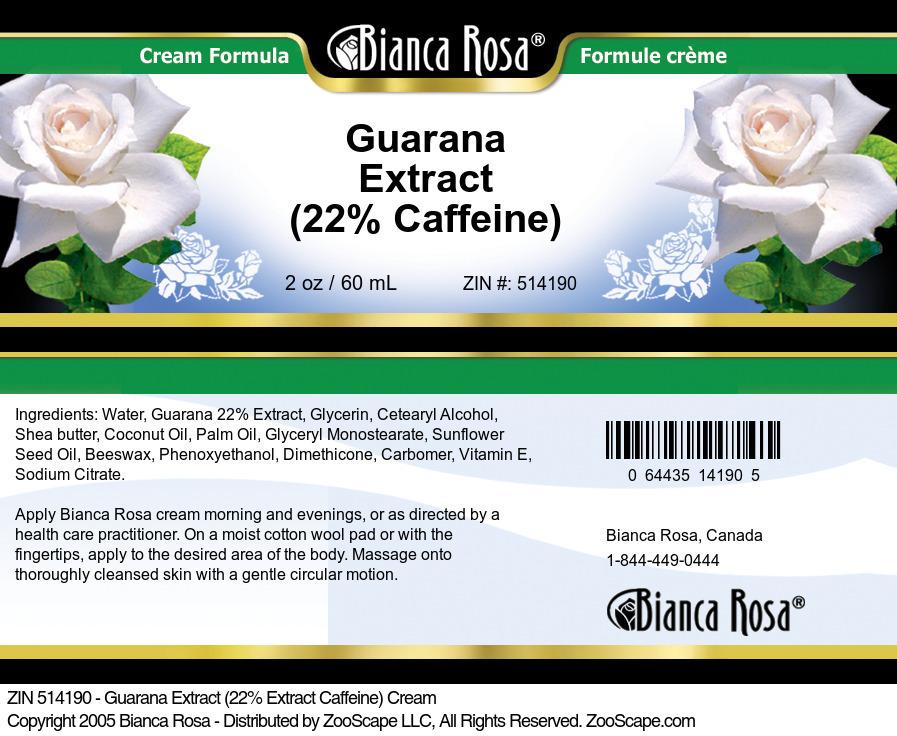 Guarana Extract (22% Caffeine) Cream