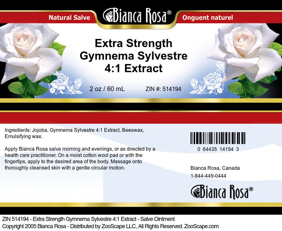 Extra Strength Gymnema Sylvestre 4:1 Extract - Salve Ointment