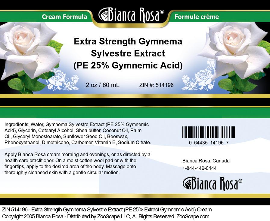 Extra Strength Gymnema Sylvestre Extract (PE 25% Gymnemic Acid) Cream