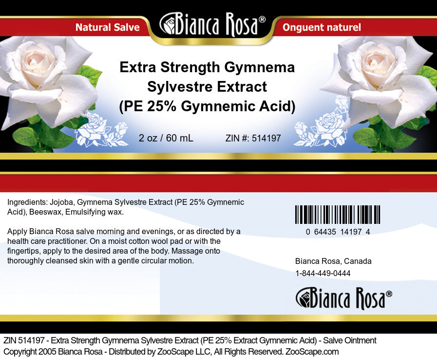 Extra Strength Gymnema Sylvestre Extract (PE 25% Gymnemic Acid) - Salve Ointment