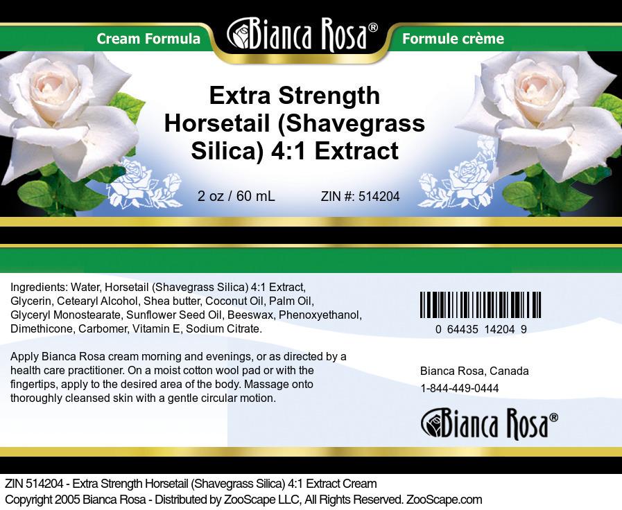 Extra Strength Horsetail (Shavegrass Silica) 4:1 Extract Cream