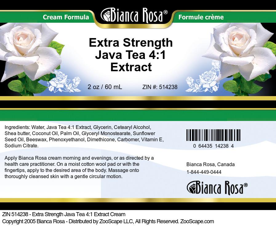 Extra Strength Java Tea 4:1 Extract Cream