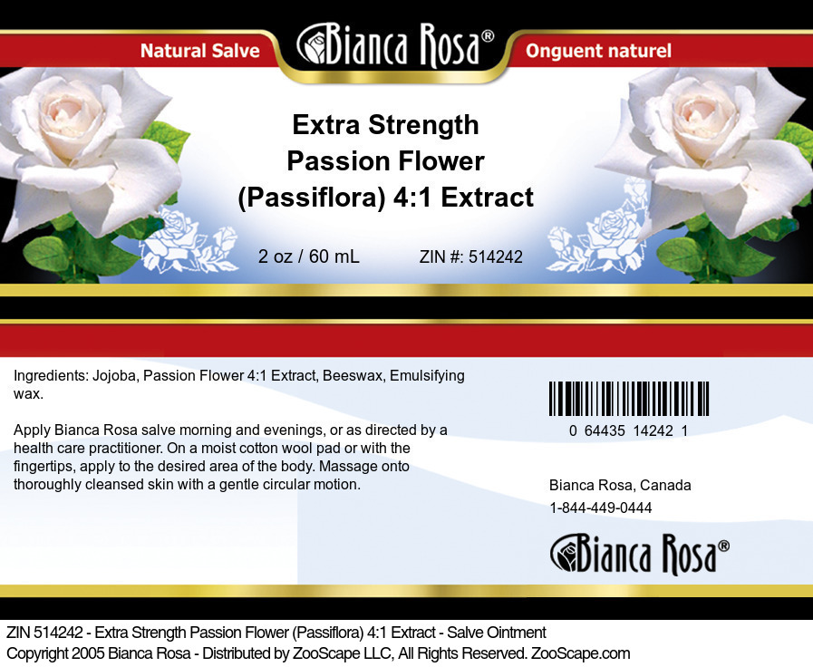 Extra Strength Passion Flower (Passiflora) 4:1 Extract - Salve Ointment