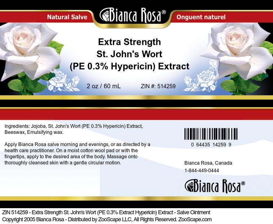 Extra Strength St. John's Wort (PE 0.3% Hypericin) Extract - Salve Ointment