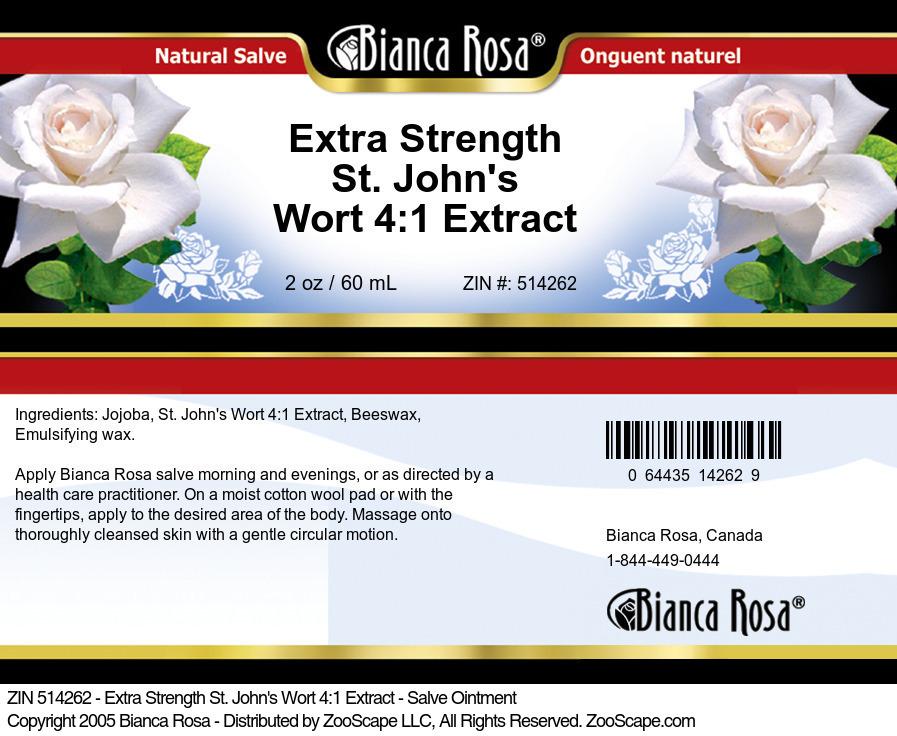 Extra Strength St. John's Wort 4:1 Extract - Salve Ointment