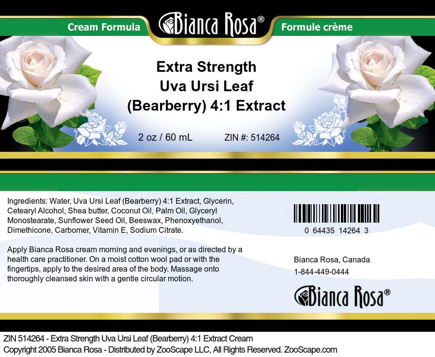 Extra Strength Uva Ursi Leaf (Bearberry) 4:1 Extract Cream