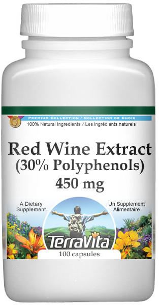 Red Wine Extract (30% Polyphenols) - 450 mg