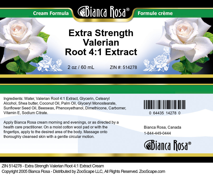 Extra Strength Valerian Root 4:1 Extract Cream