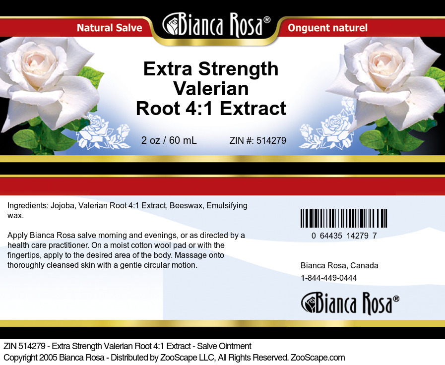 Extra Strength Valerian Root 4:1 Extract - Salve Ointment