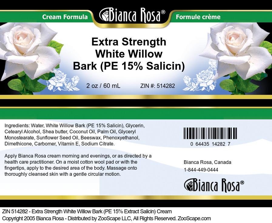 Extra Strength White Willow Bark (PE 15% Salicin) Cream
