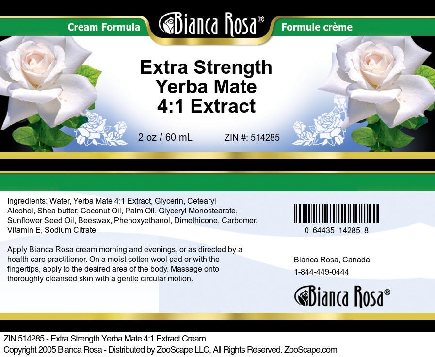 Extra Strength Yerba Mate 4:1 Extract Cream