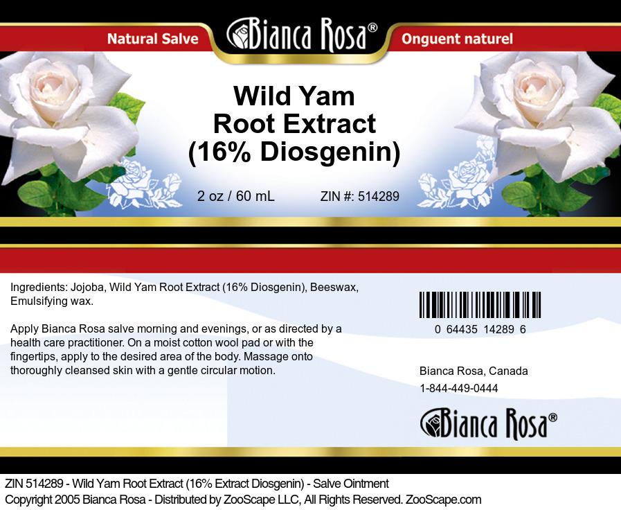 Wild Yam Root Extract <BR>(16% Diosgenin)