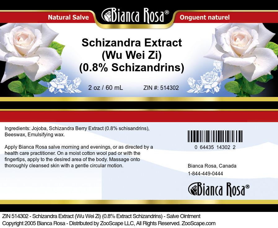 Schizandra Extract (Wu Wei Zi) (0.8% Schizandrins) - Salve Ointment