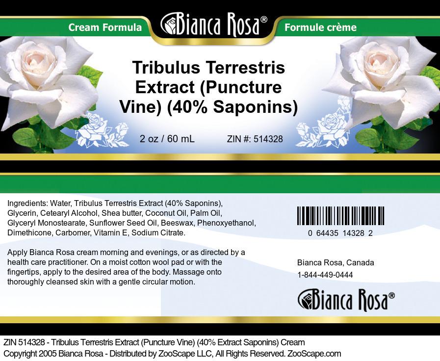 Tribulus Terrestris Extract (Puncture Vine) (40% Saponins) Cream