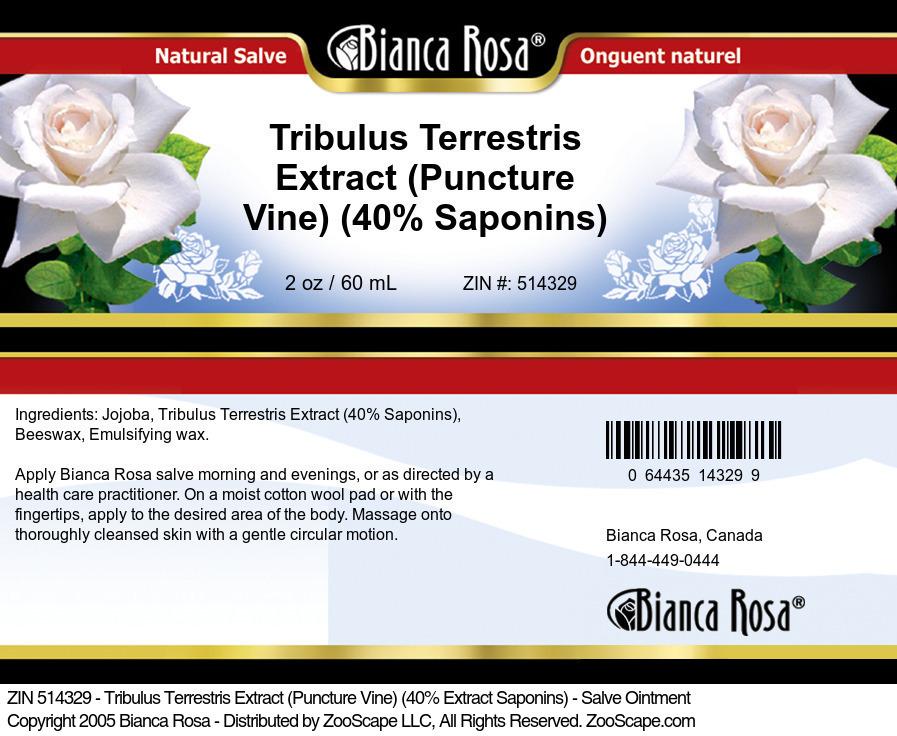 Tribulus Terrestris Extract (Puncture Vine) (40% Saponins) - Salve Ointment