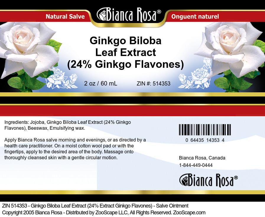 Ginkgo Biloba Leaf Extract (24% Ginkgo Flavones) - Salve Ointment