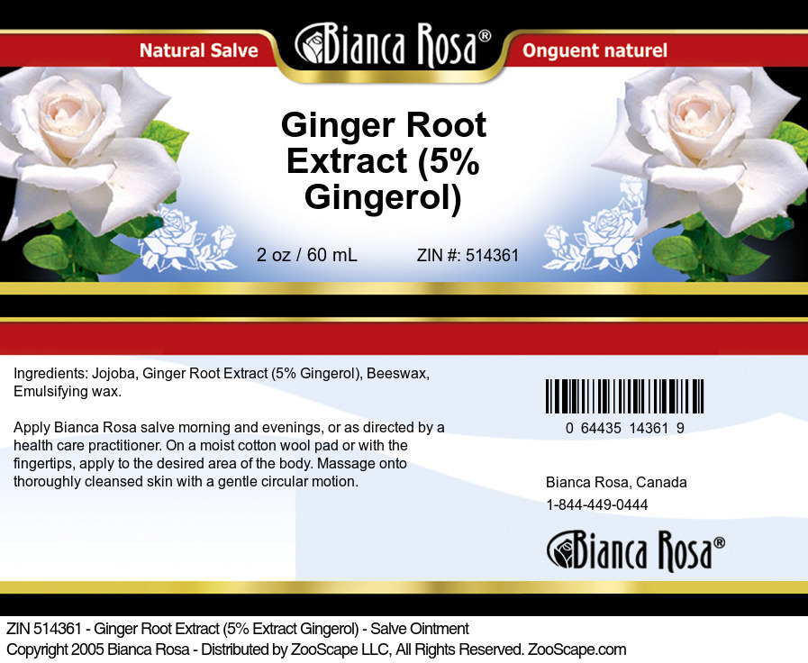 Ginger Root 5% Gingerol Extract