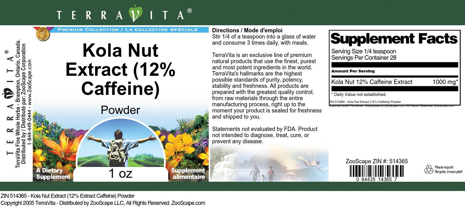 Kola Nut 12% Caffeine Extract