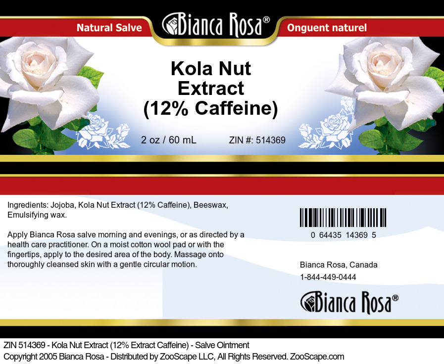 Kola Nut Extract (12% Caffeine) - Salve Ointment