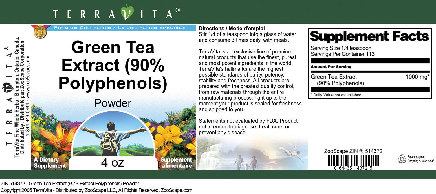 Green Tea Extract (90% Polyphenols) Powder