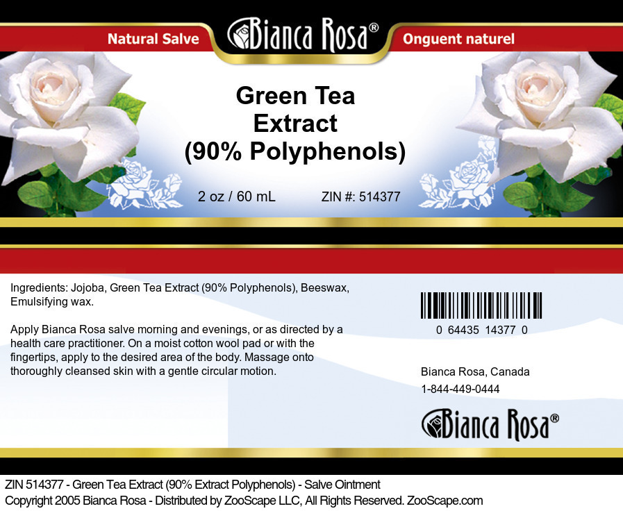 Green Tea Extract (90% Polyphenols) - Salve Ointment