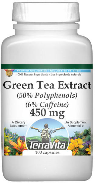 Green Tea Extract (50% Polyphenols) (6% Caffeine) - 450 mg