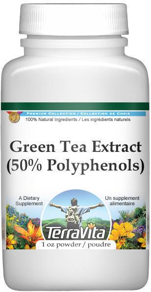 Green Tea Extract (50% Polyphenols) (10% Caffeine) Powder