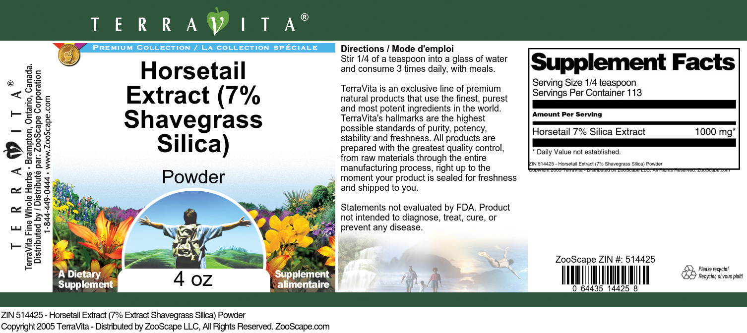 Horsetail Extract (7% Shavegrass Silica) Powder