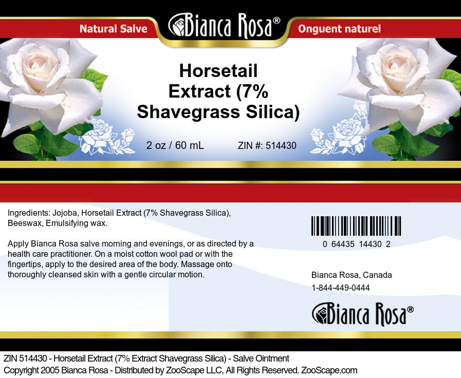 Horsetail Extract (7% Shavegrass Silica) - Salve Ointment