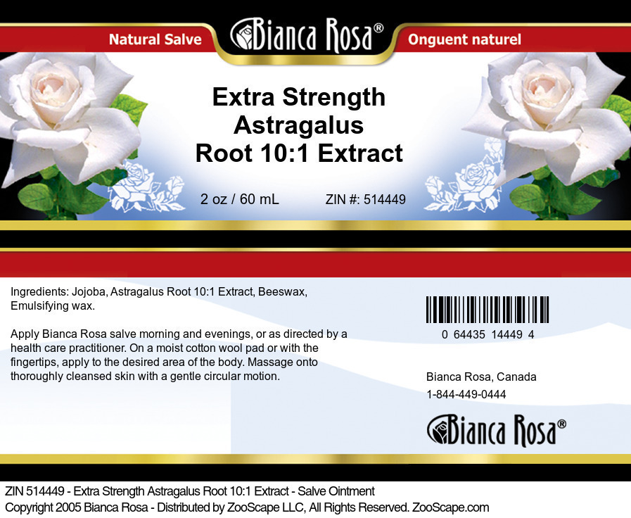 Extra Strength Astragalus Root 10:1 Extract - Salve Ointment