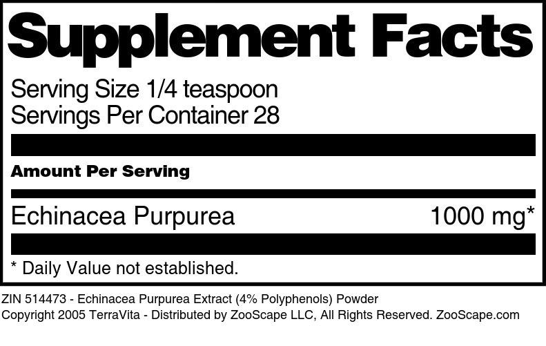 Echinacea Purpurea Extract (4% Polyphenols) Powder