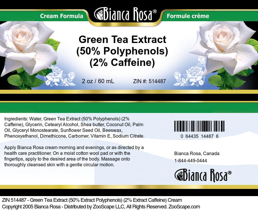 Green Tea Extract (50% Polyphenols) (2% Caffeine) Cream