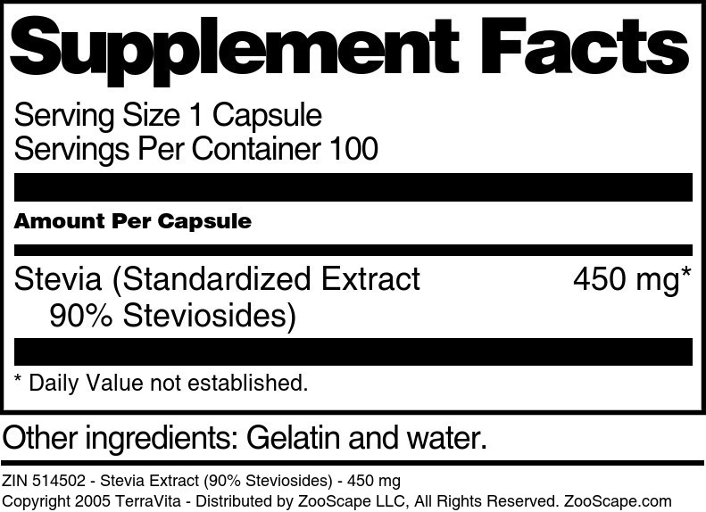 Stevia Extract <BR>(90% Steviosides)
