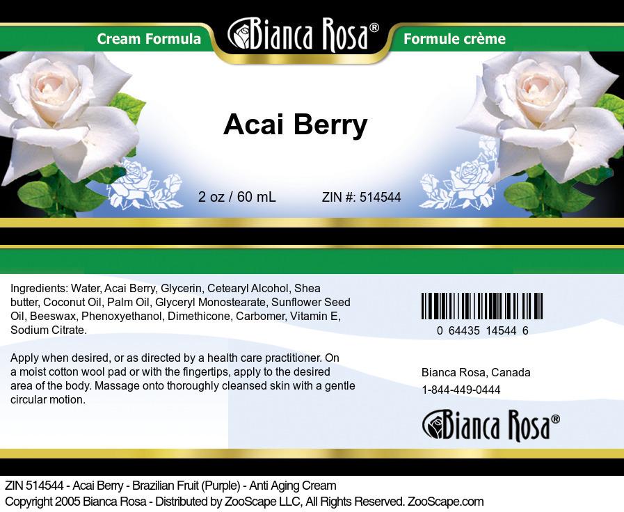 Acai Berry - Brazilian Fruit (Purple) - Anti Aging Cream