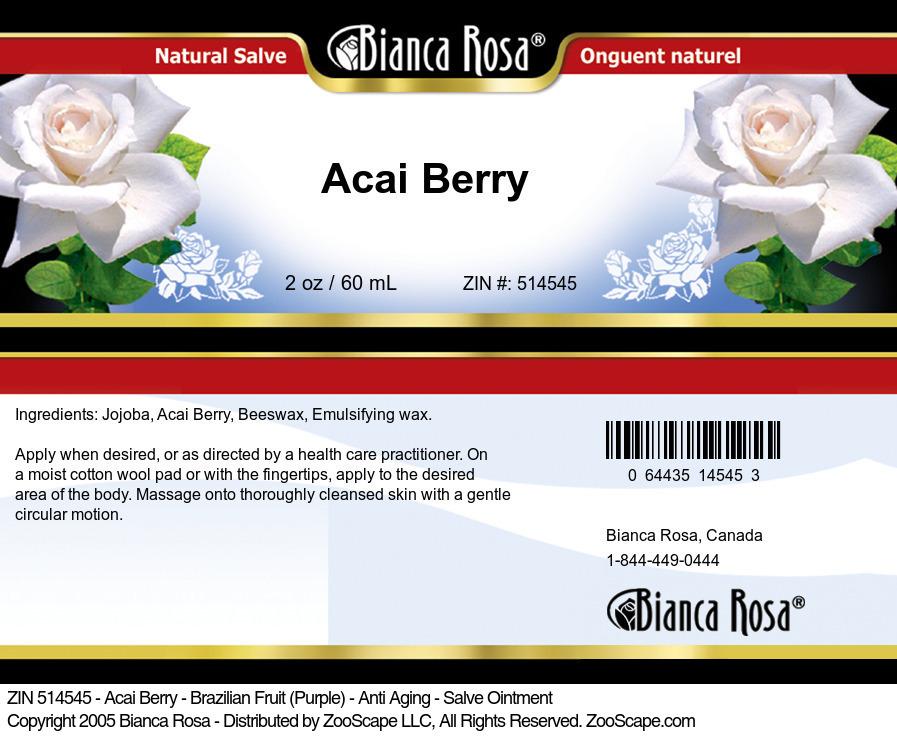 Acai Berry - Brazilian Fruit (Purple) - Anti Aging - Salve Ointment