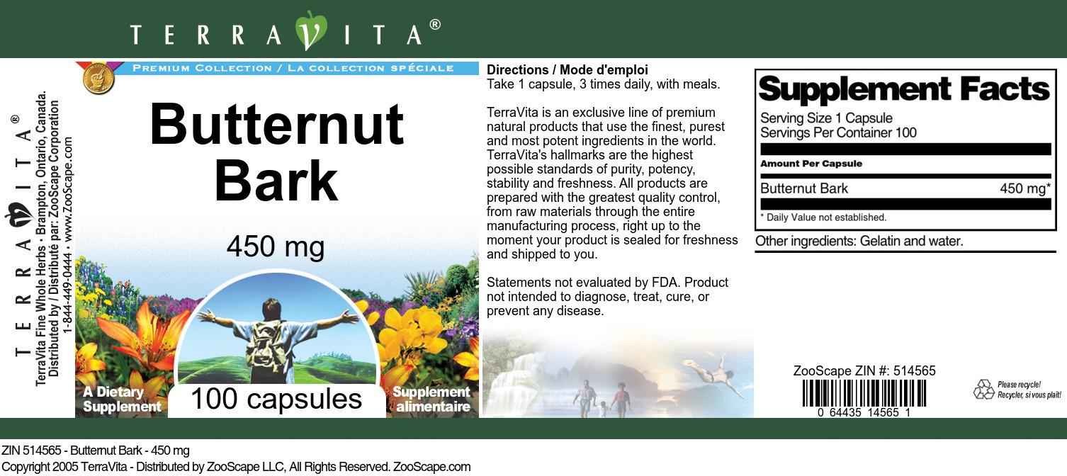 Butternut Bark - 450 mg
