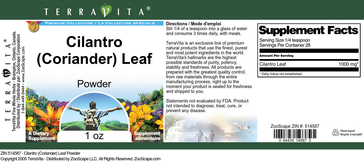 Cilantro (Coriander) Leaf Powder