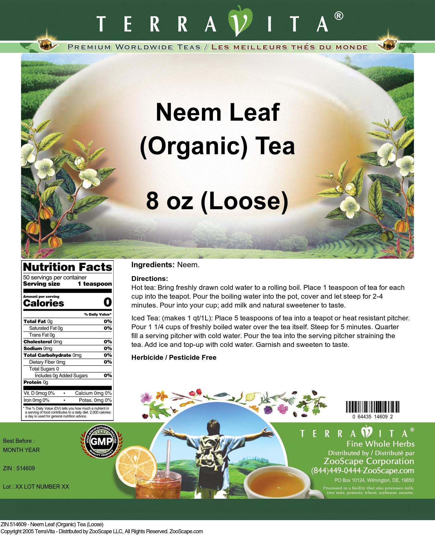 Neem Leaf (Organic) Tea (Loose)