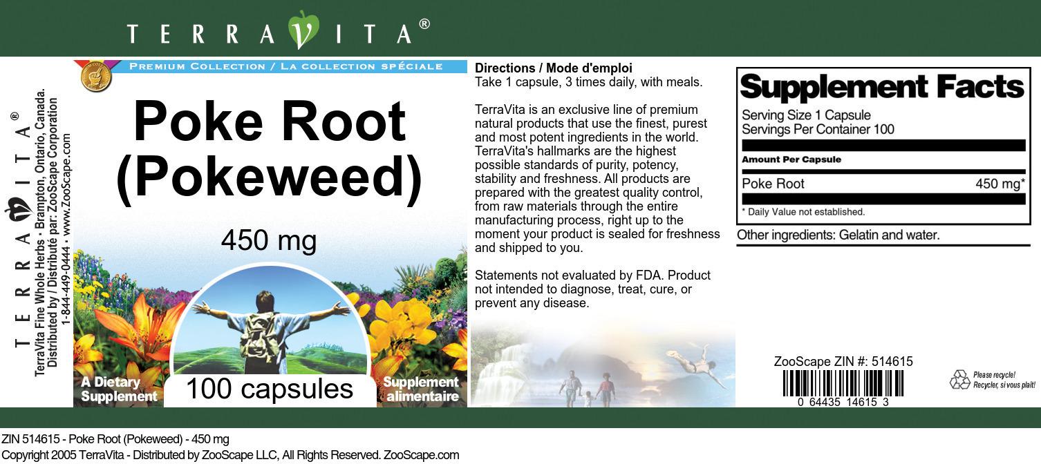 Poke Root (Pokeweed) - 450 mg