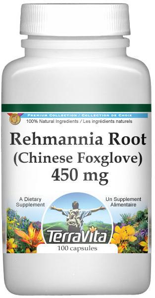Rehmannia Root (Chinese Foxglove) - 450 mg