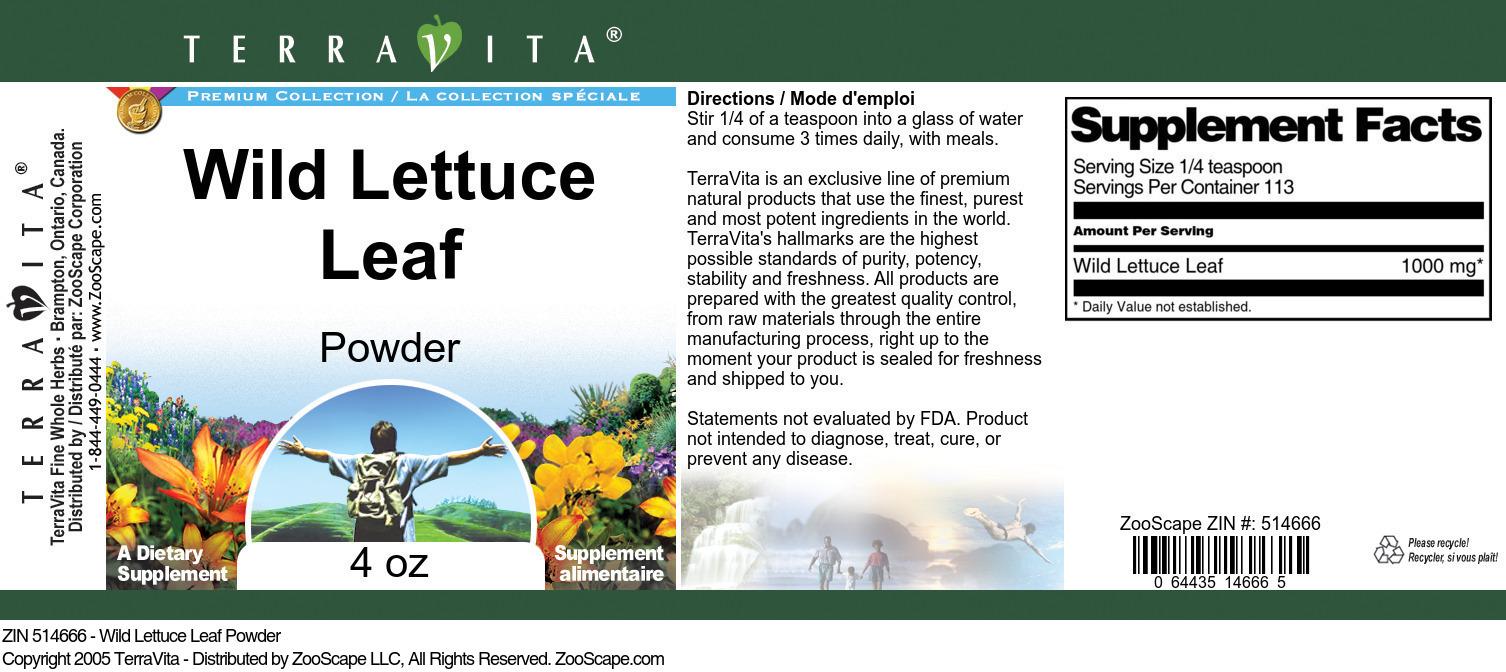 Wild Lettuce Leaf Powder